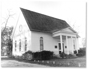 Old Worth County Library in Presbyterian Church
